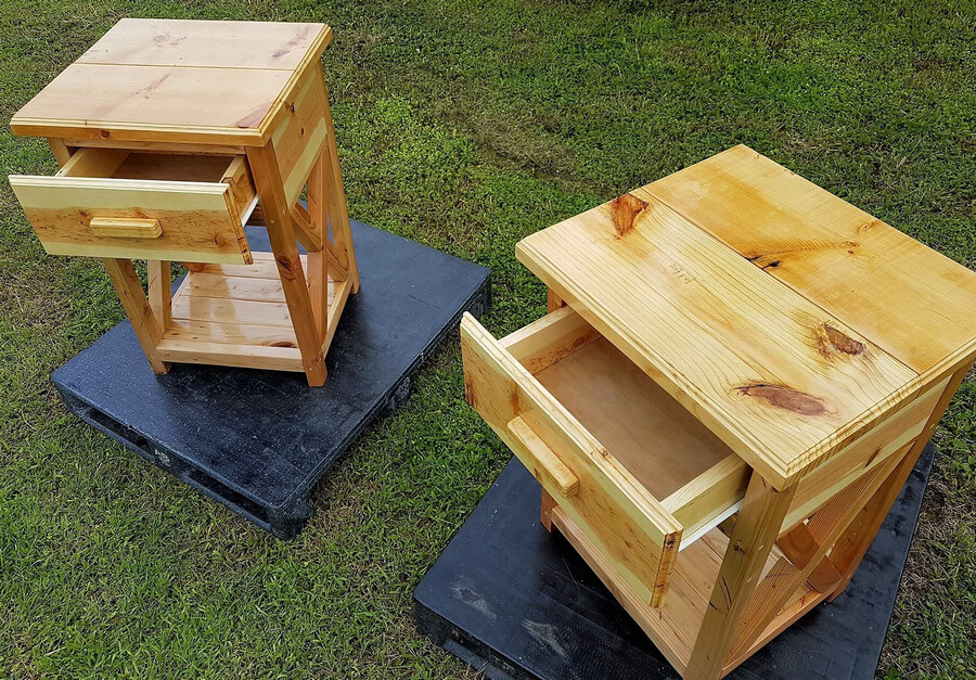 repurposed pallets side tables
