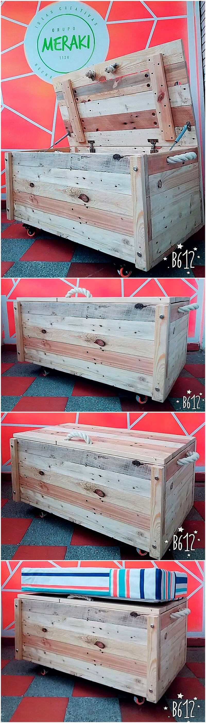 repurposed wooden pallets trunk