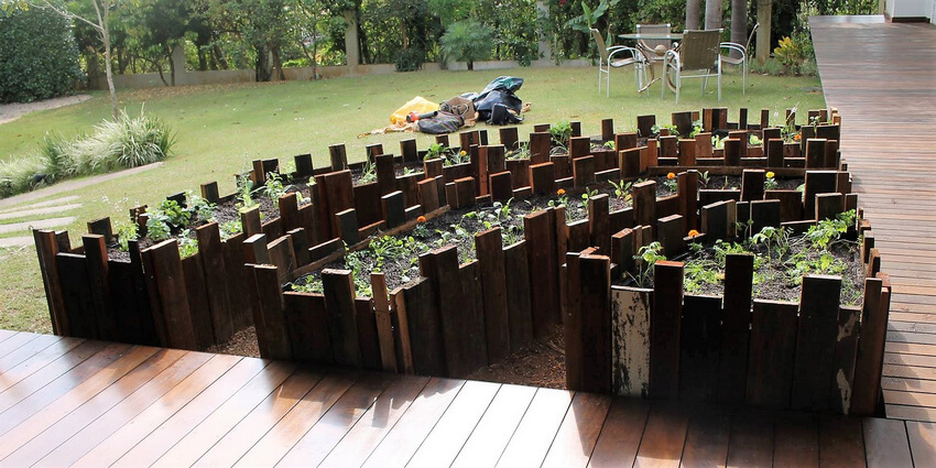 reused pallets raised garden