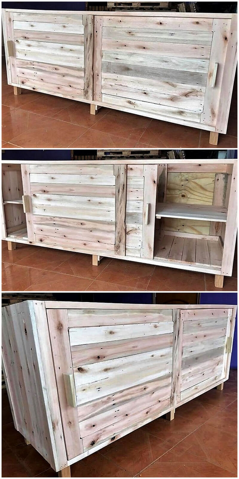 reused pallets wooden tv stand