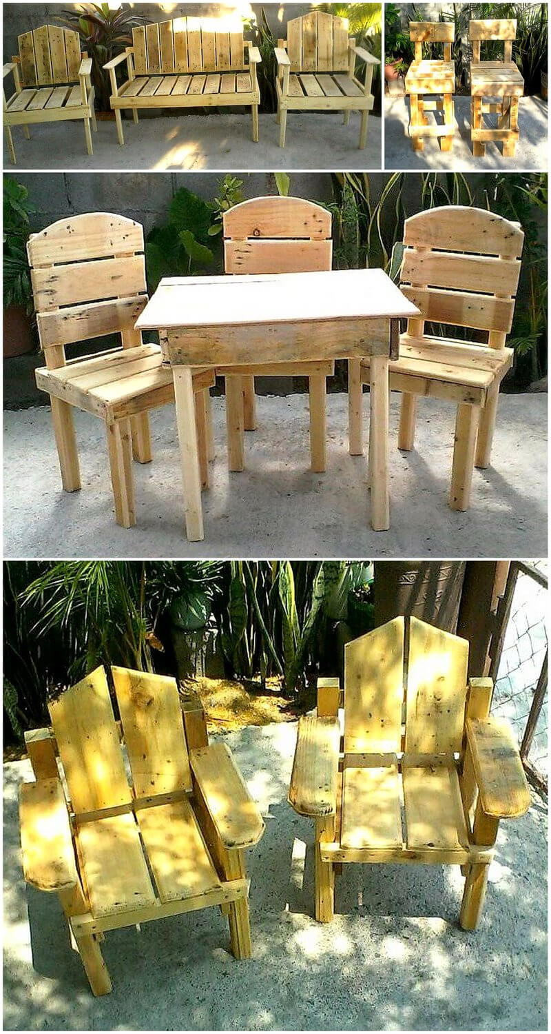 reused wood pallets garden furniture ideas