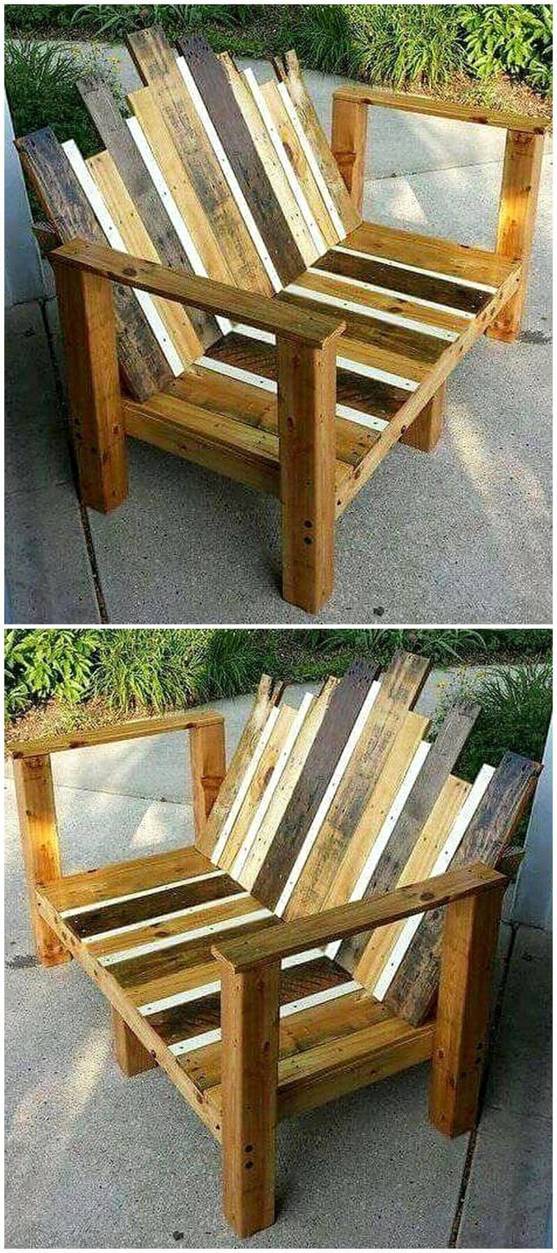 rustic look patio pallet bench