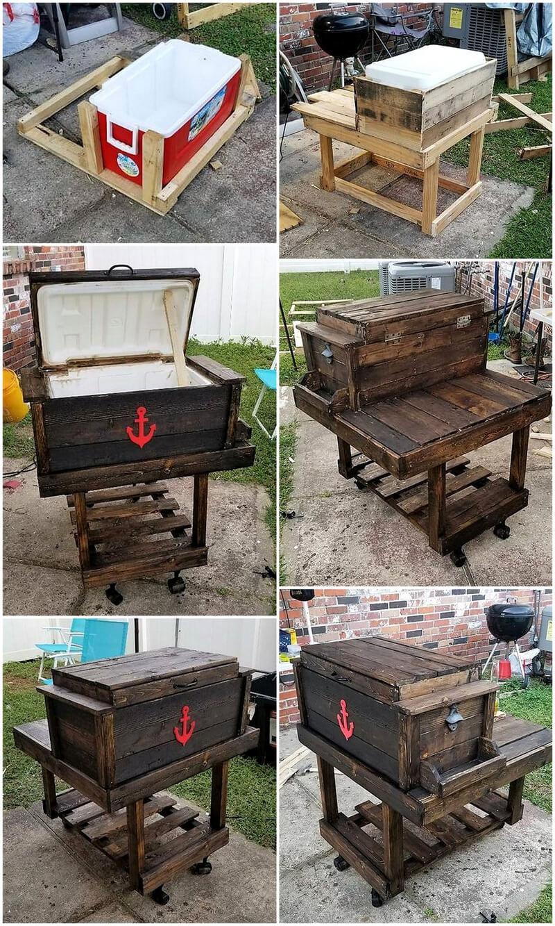 wood pallet cooler diy