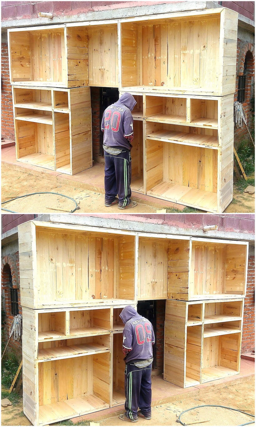 wood pallet giant cupboard