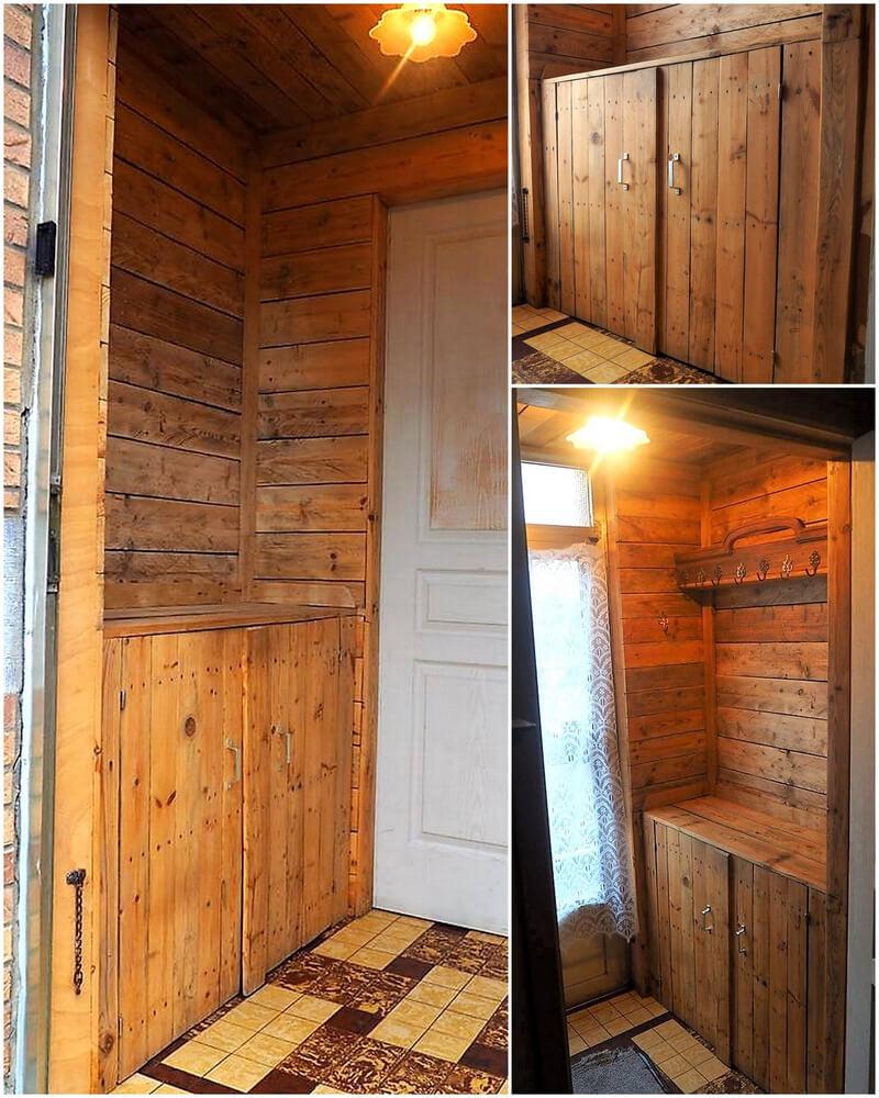 wood pallet wardrobe plan