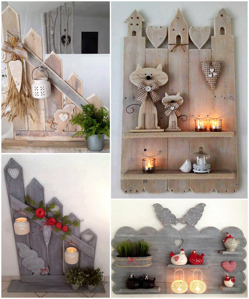 wood pallets decor shelving