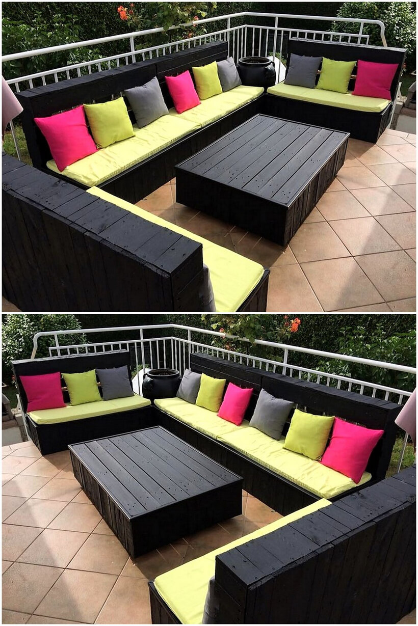 wood pallets garden lounge