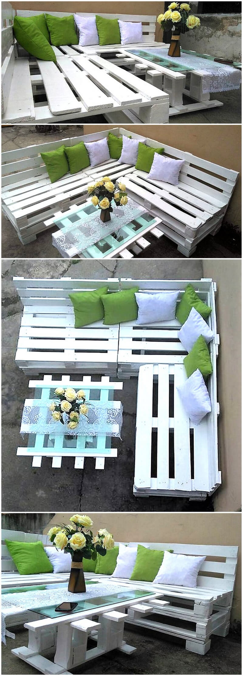 wood pallets patio lounge