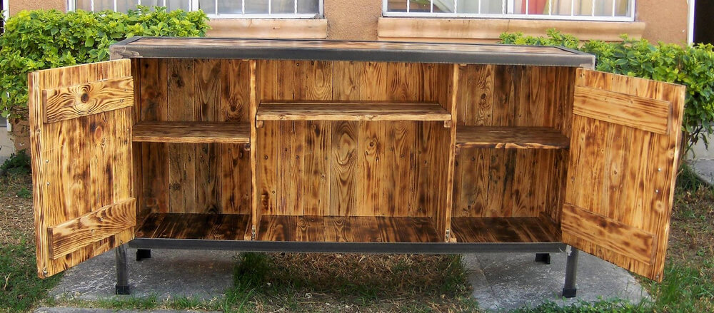 wooden pallet tv stand idea