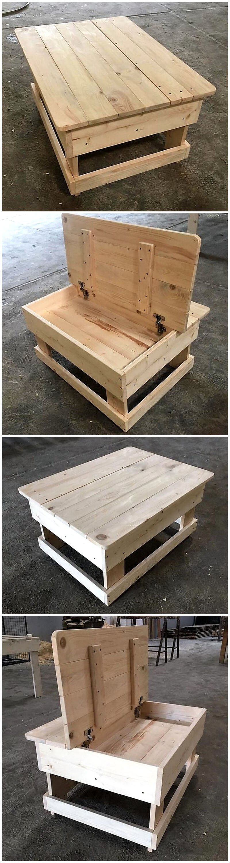 wooden pallets coffee tables