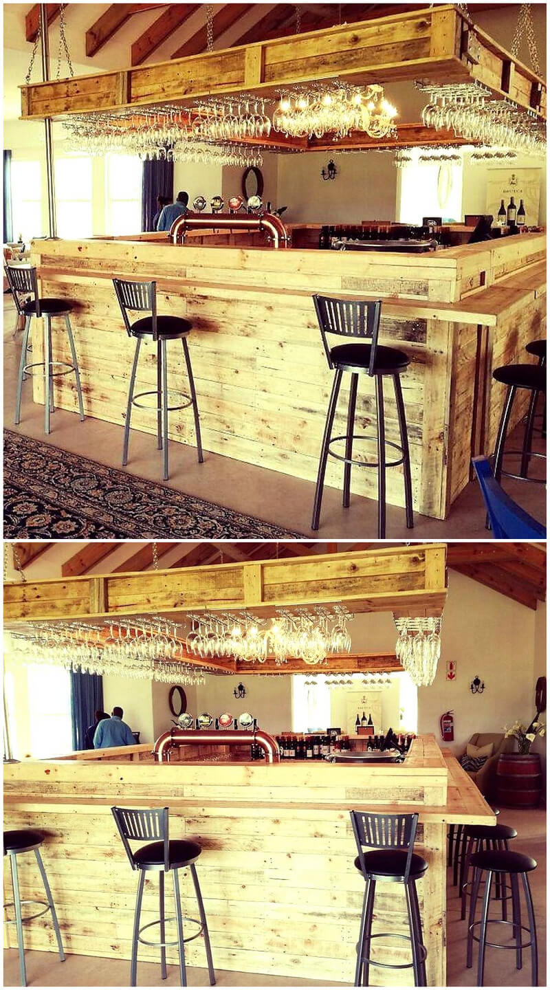 wooden pallets made big bar