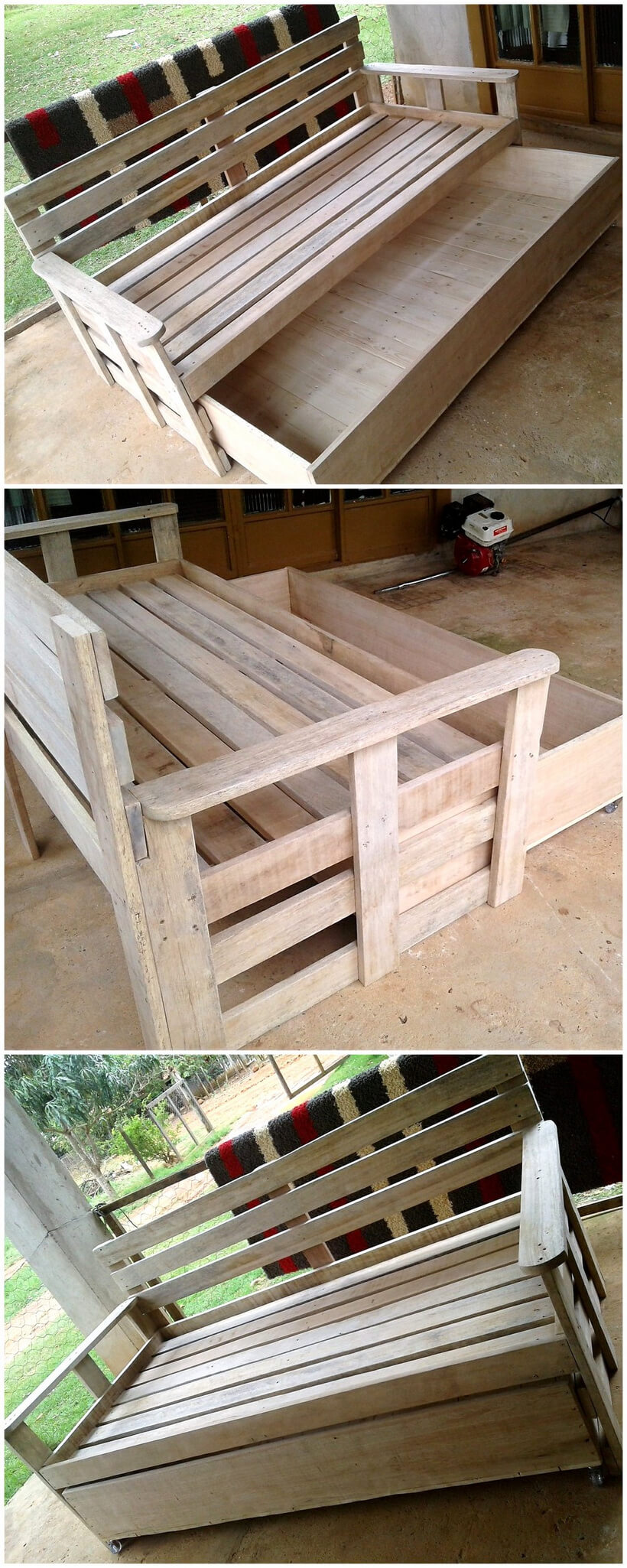 wooden pallets sofa bed