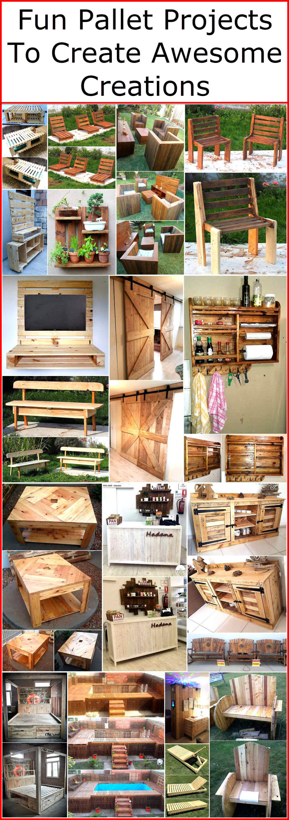 Fun Pallet Projects To Creative Awesome Creations