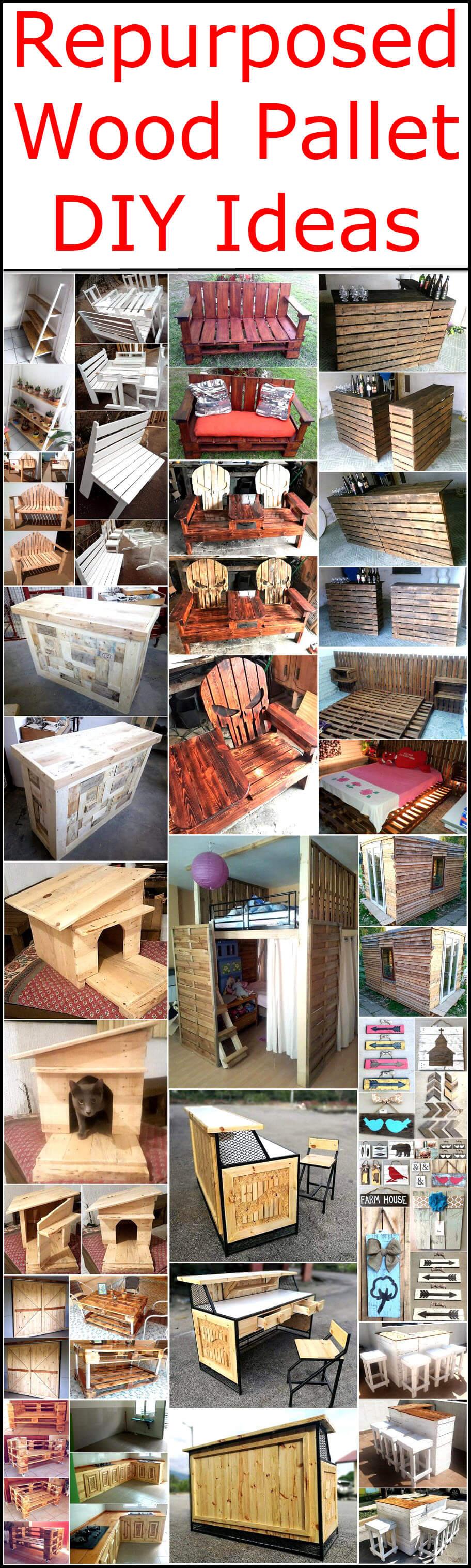 Repurposed Wood Pallet DIY Ideas