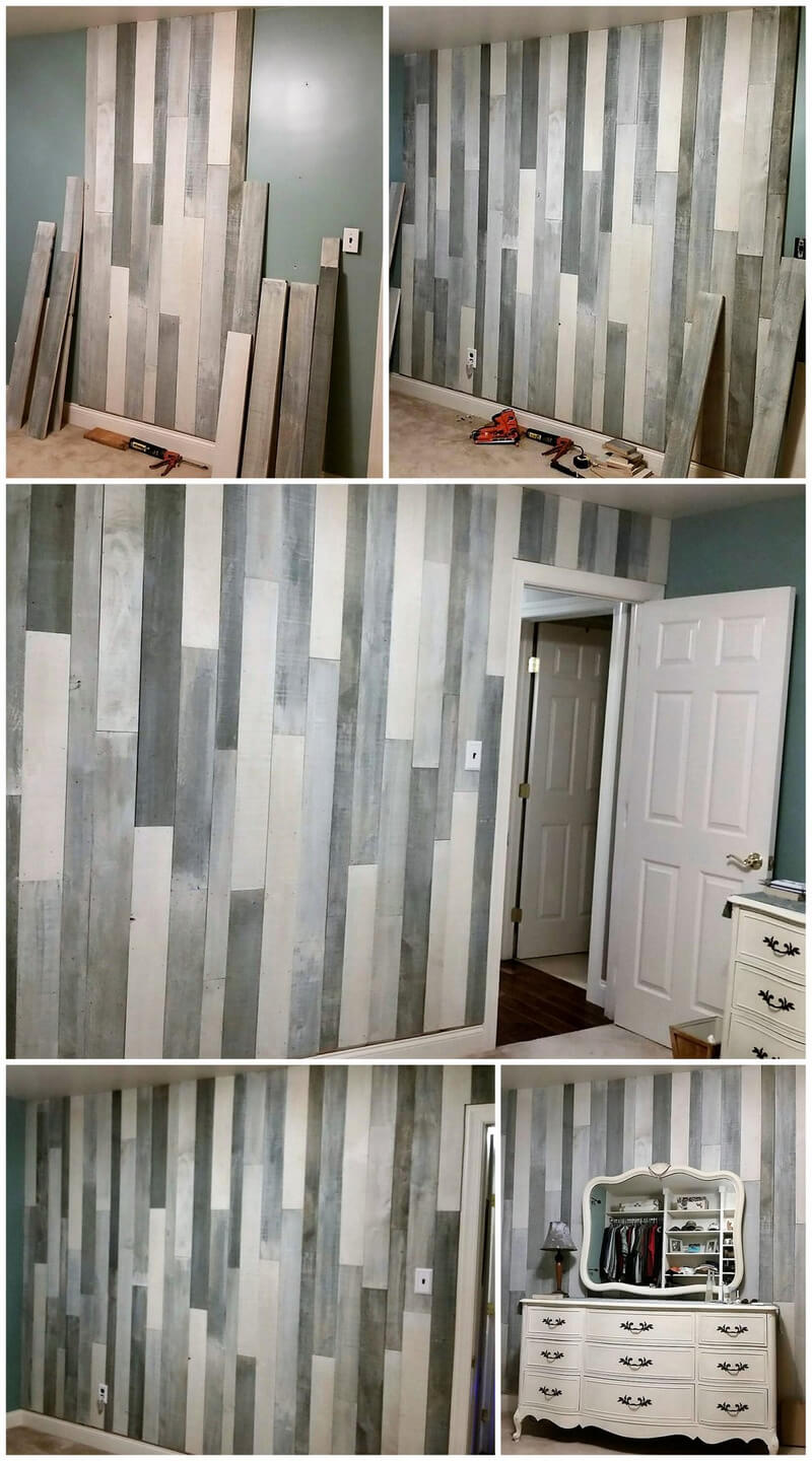 diy wooden pallets wall cladding