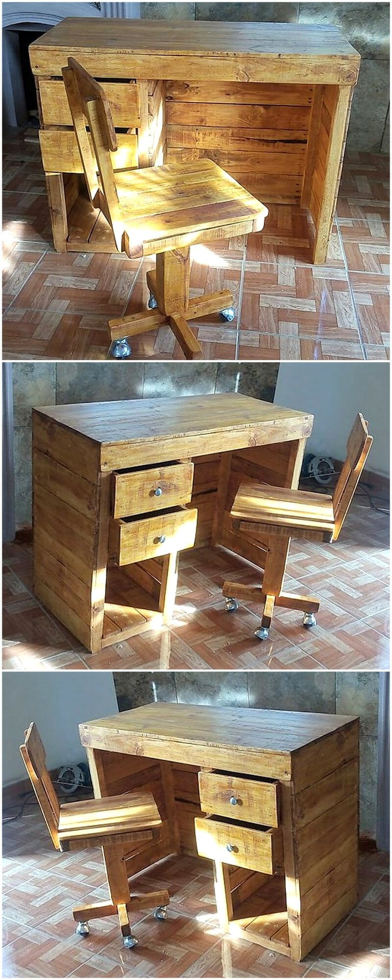 Pallet Desk And Chair