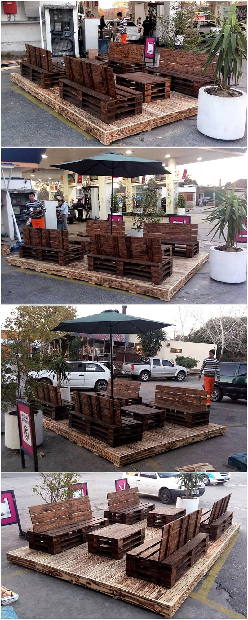 pallet patio deck lounge