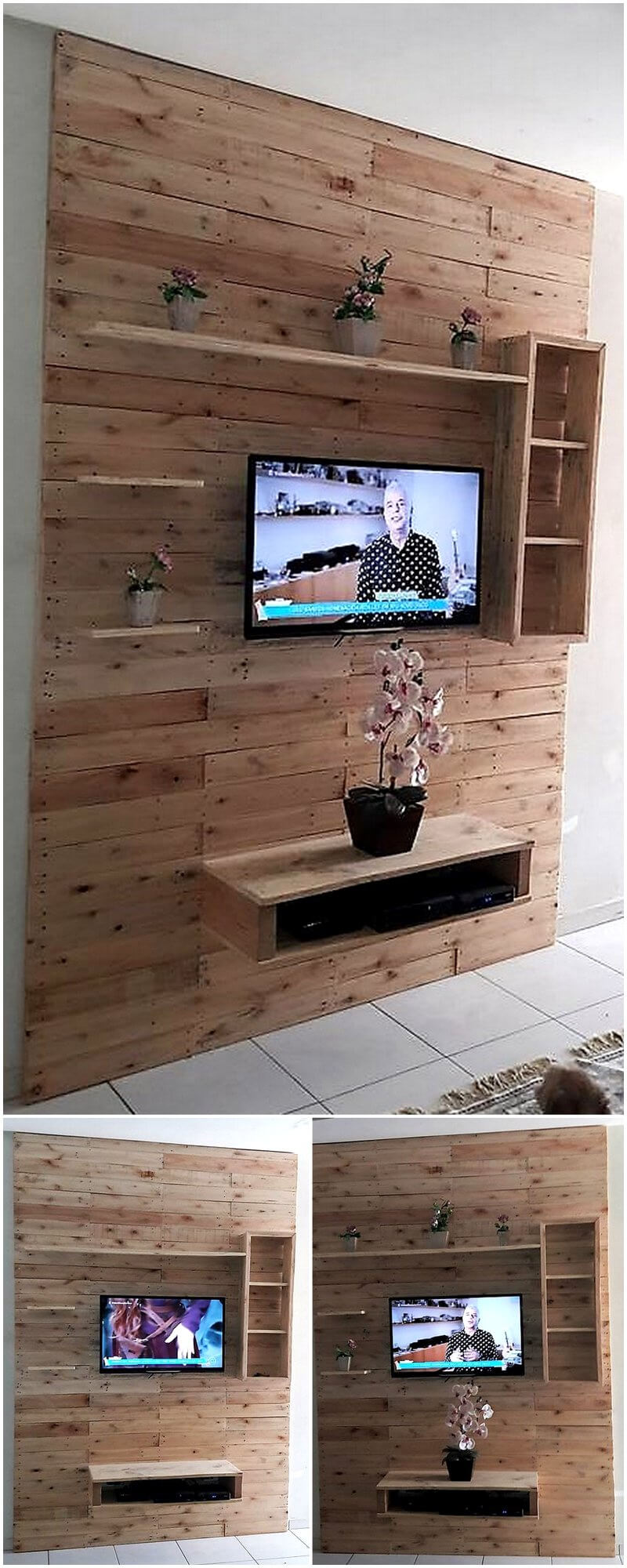 Diy Ideas For Recycled Pallets Reusing Wood Pallet Furniture # Meuble Tv Wooden Art