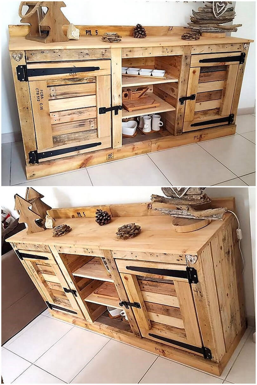 pallets entryway table idea