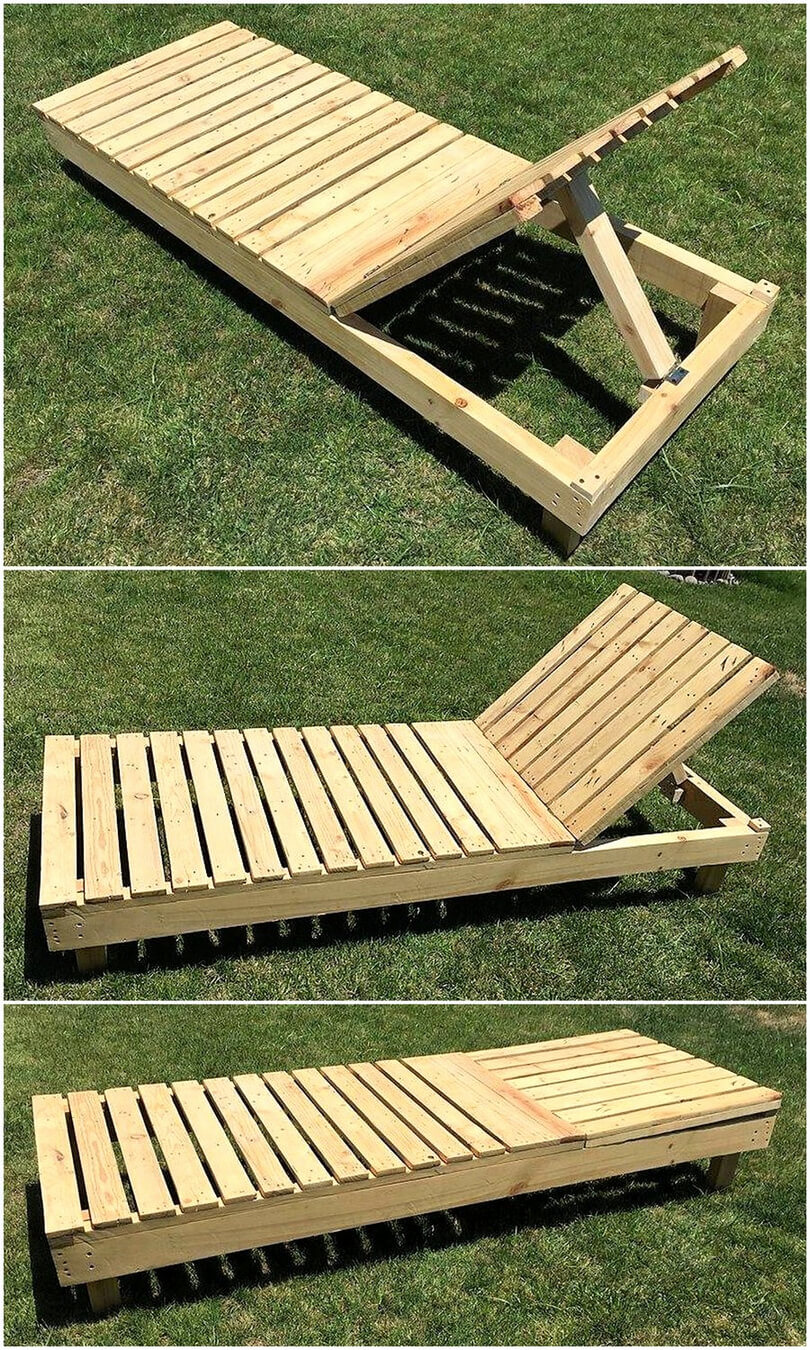 pallets garden sun lounger