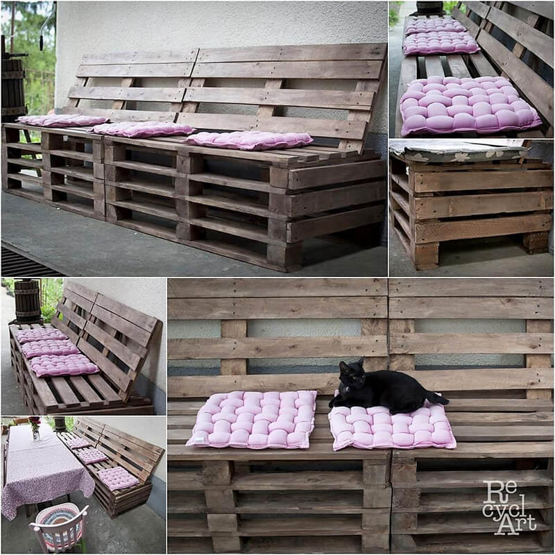 pallets patio bench