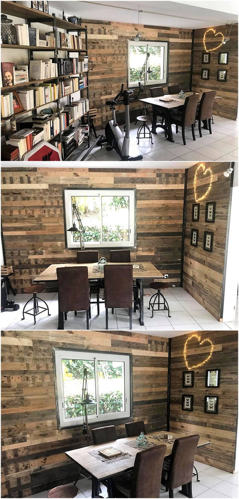 recycled wood pallet wall art