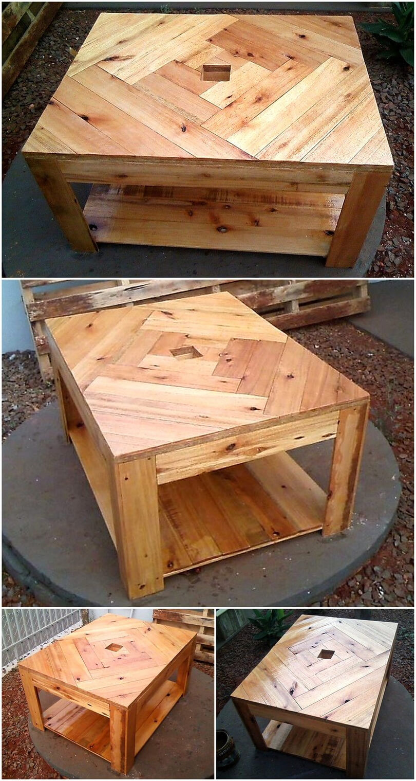 simple wood pallet table
