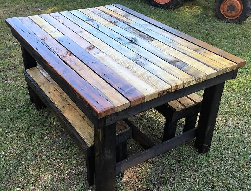wood pallet rustic furniture
