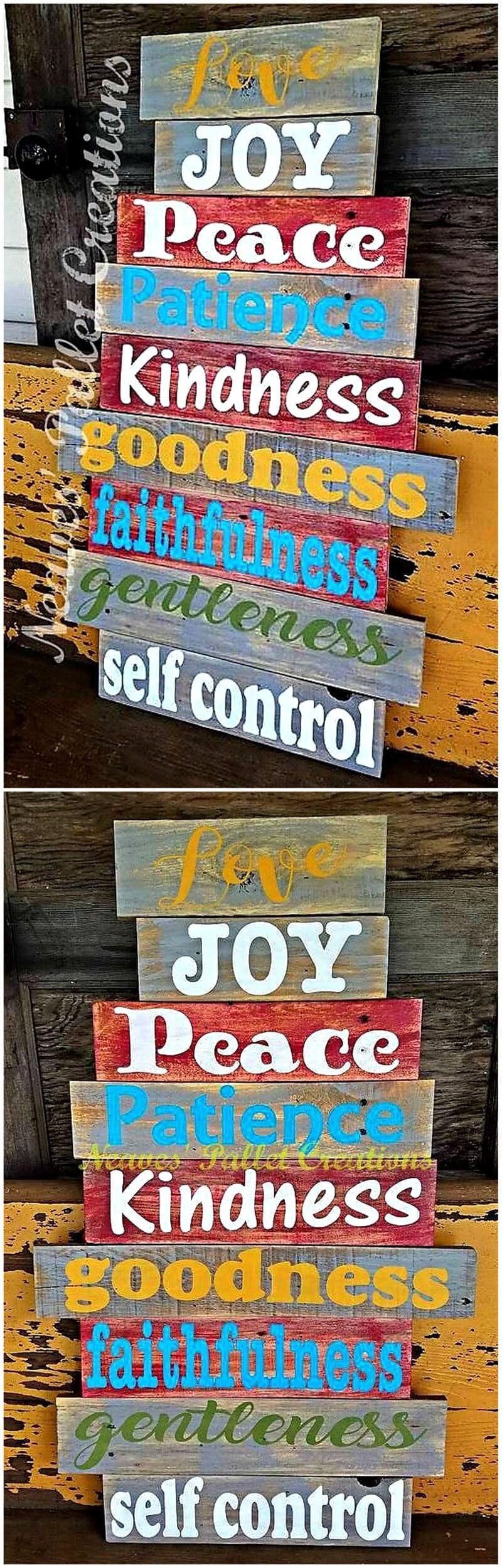 wooden pallets sign board art