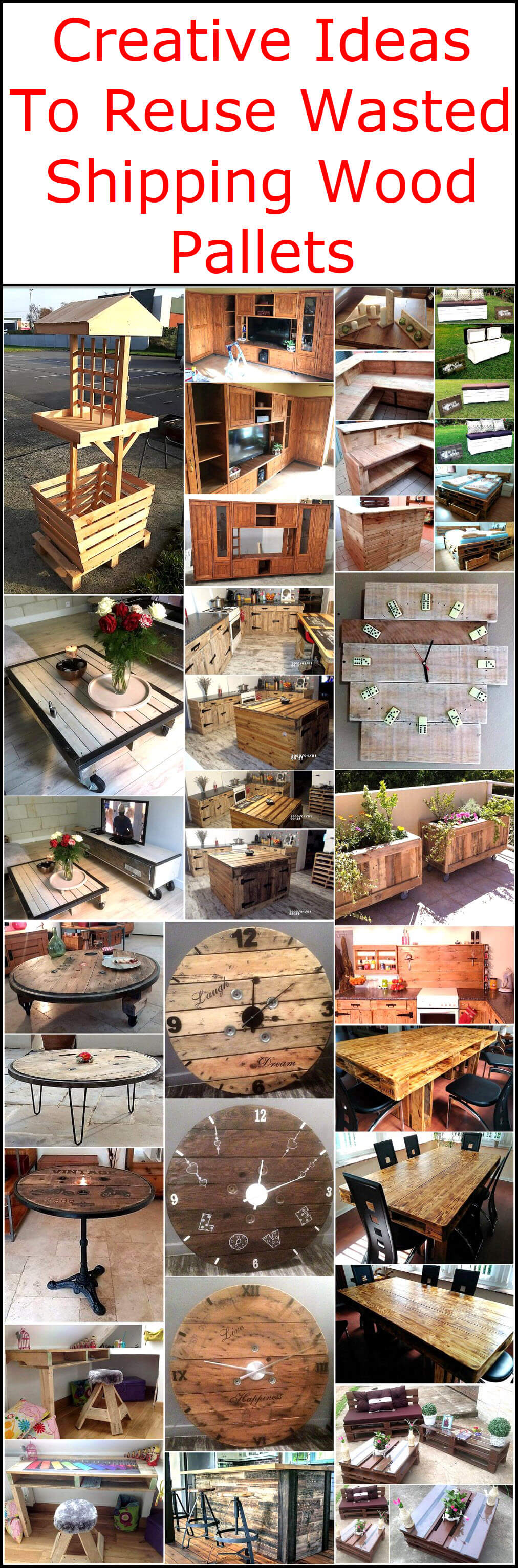 Creative Ideas To Reuse Wasted Shipping Wood Pallets Wood Pallet  # Muebles Pailets