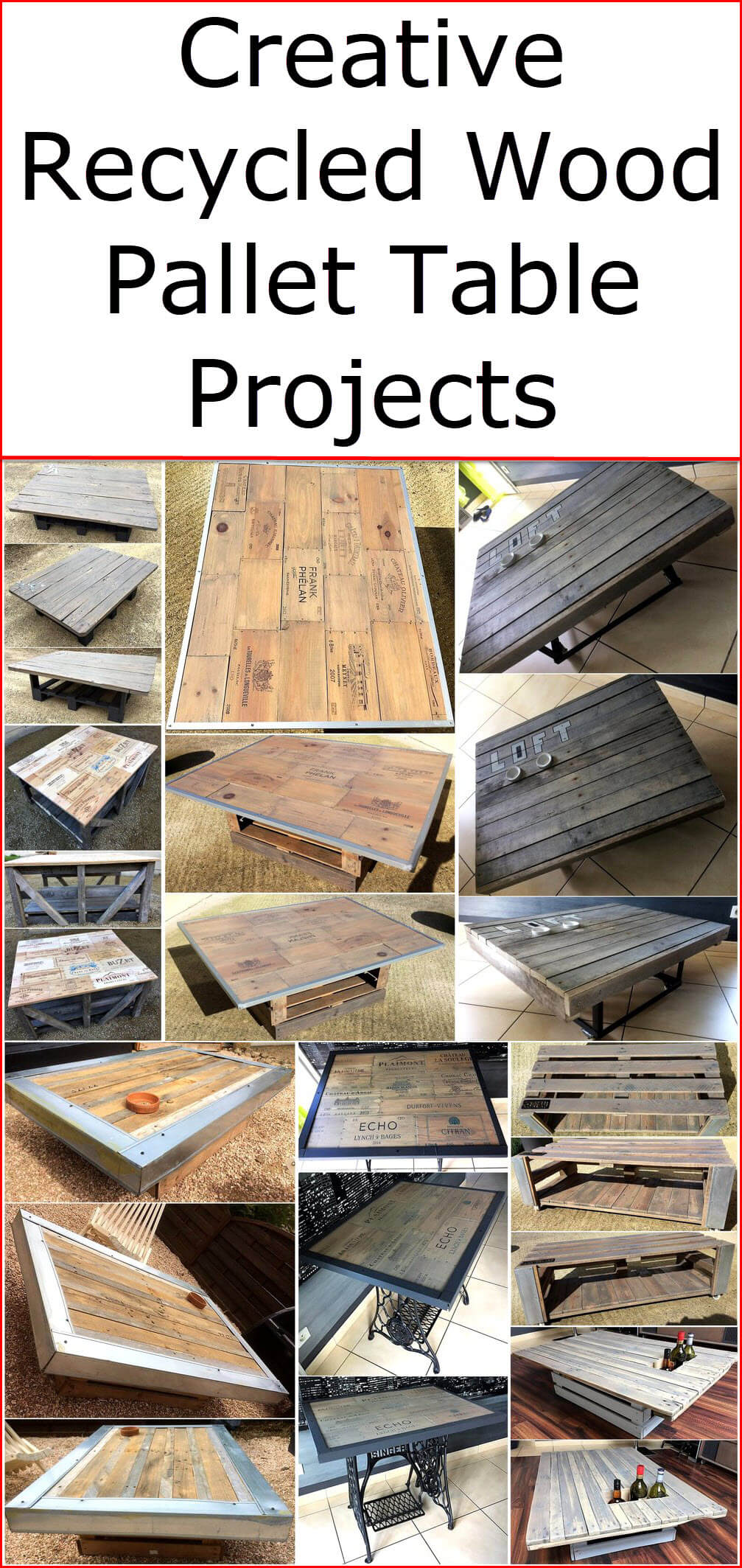 Creative Recycled Wood Pallet Table Projects