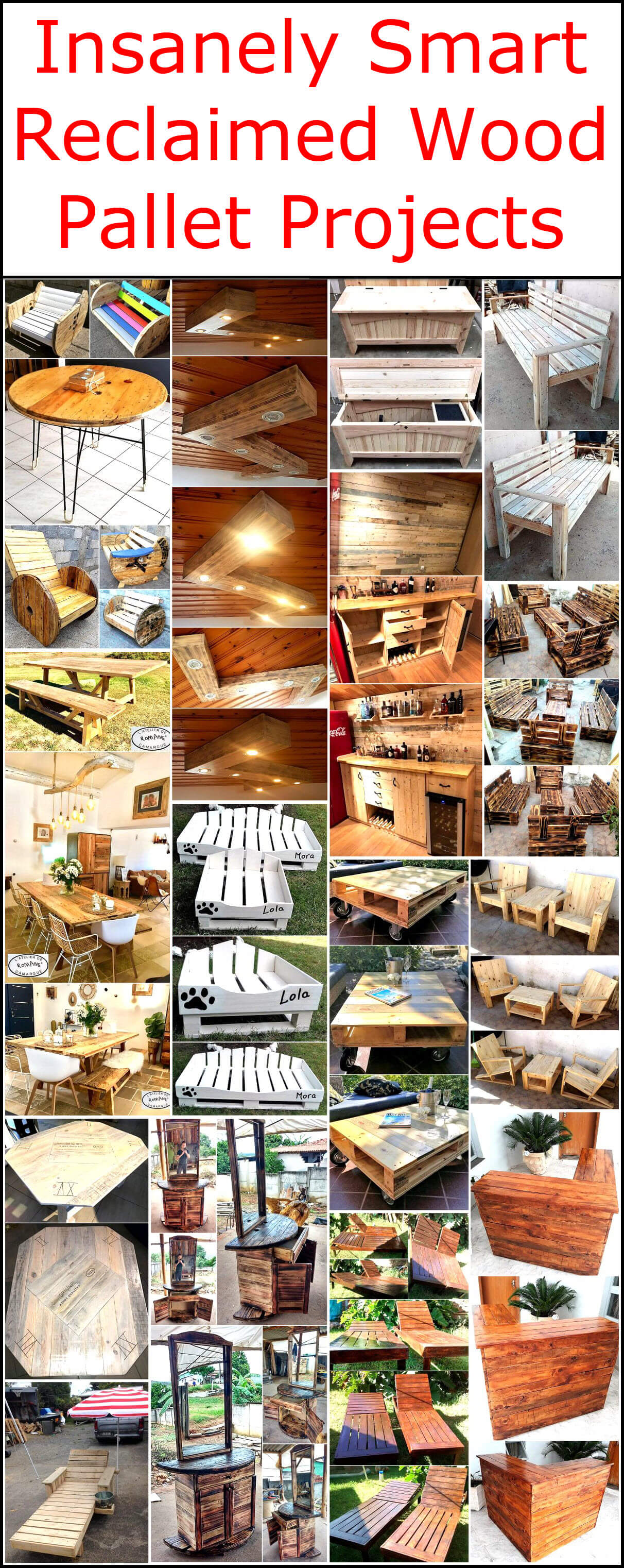 Insanely Smart Reclaimed Wood Pallet Projects
