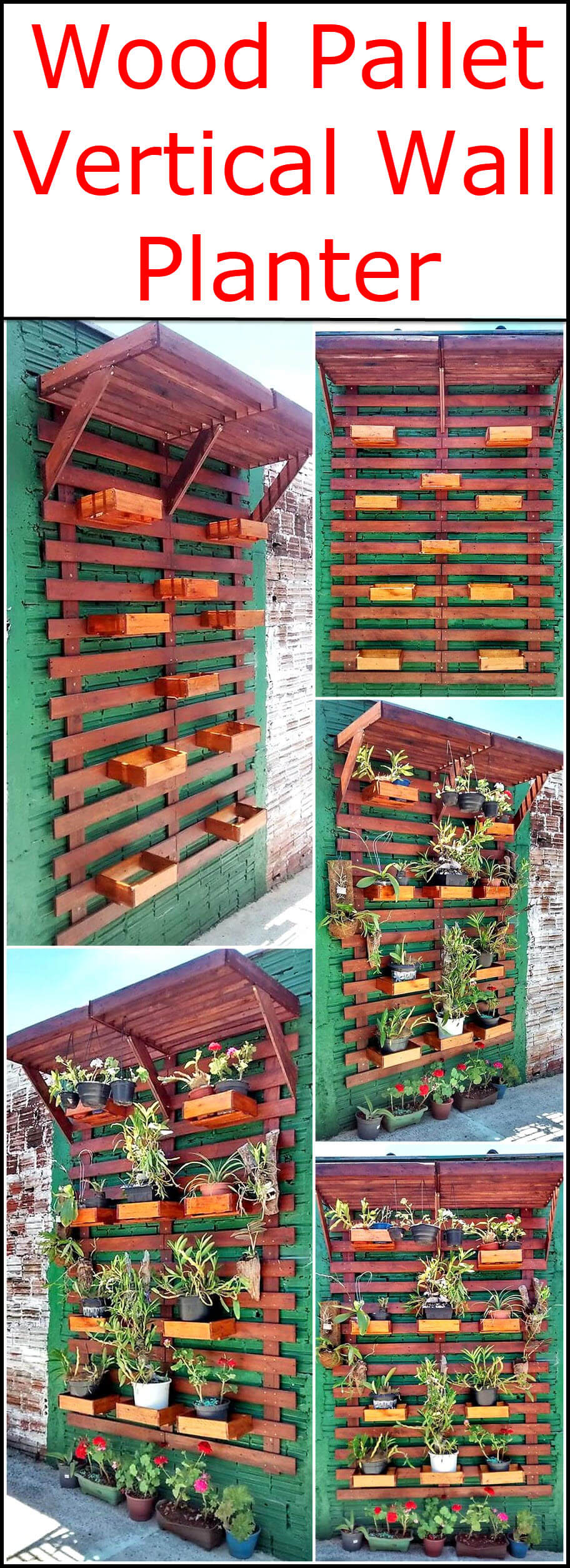 Wood Pallet Vertical Wall Planter