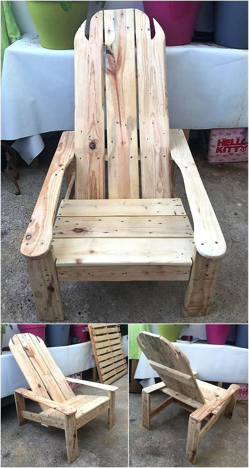 chair made with pallets wood