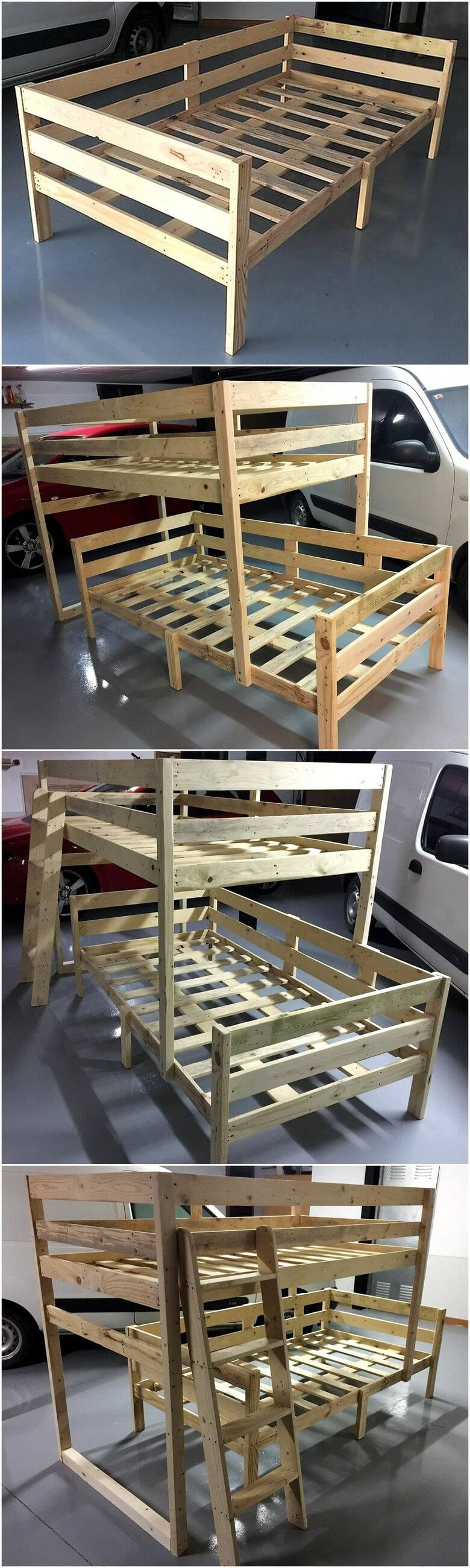 diy pallet bunk bed plan