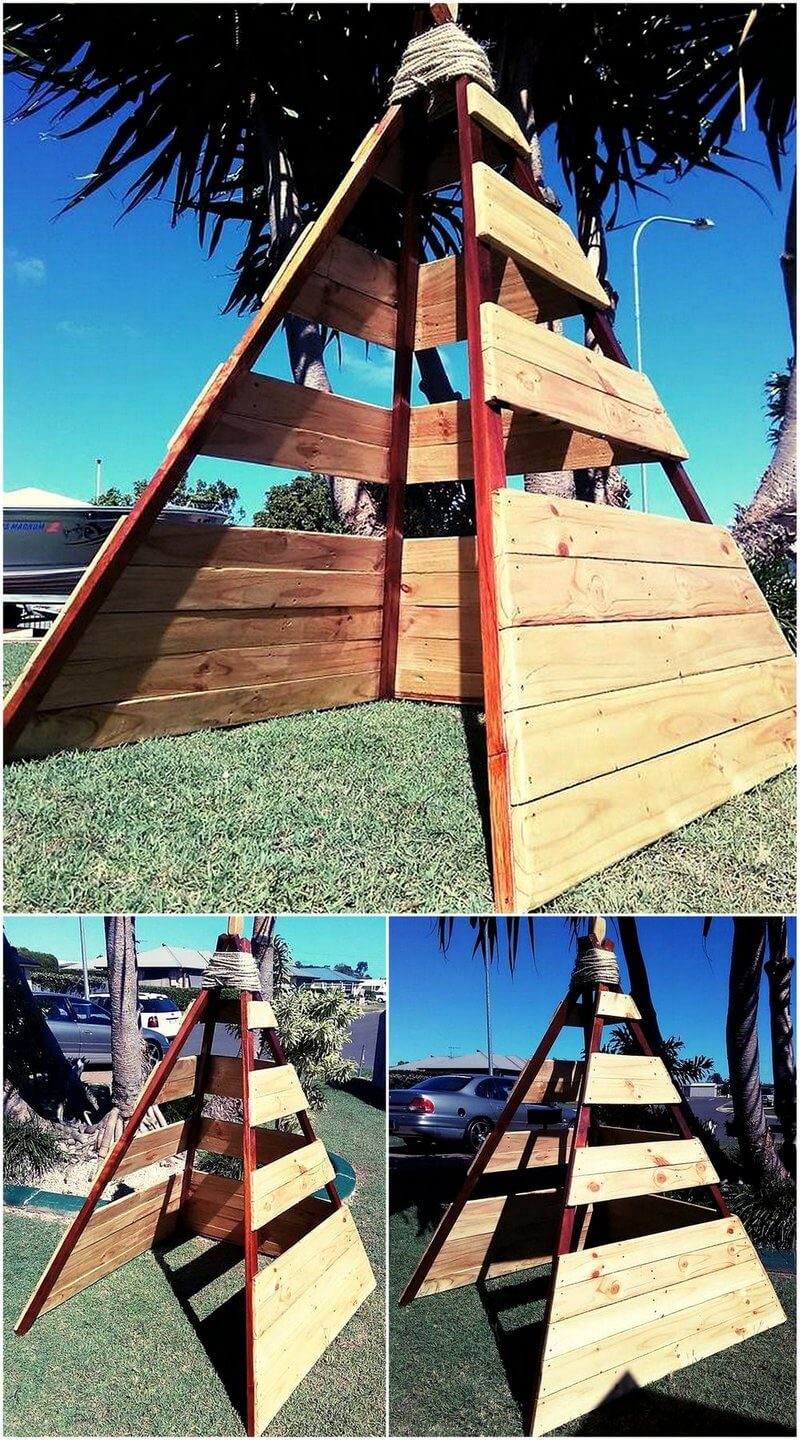 kids playhouse out of pallets