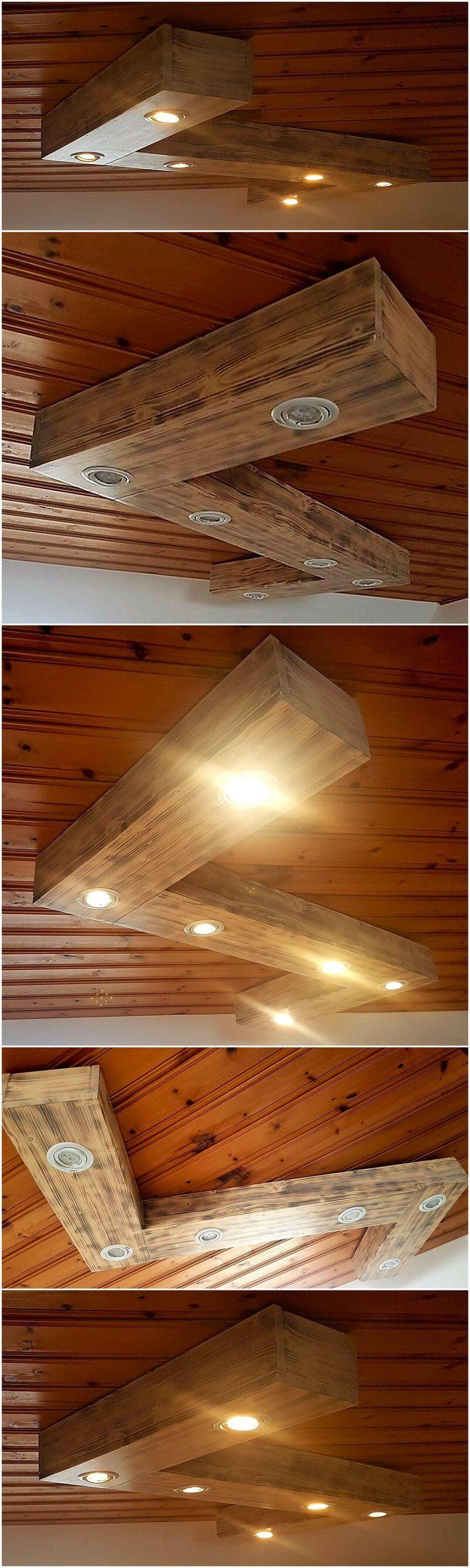 pallet LED roof hanger lamp