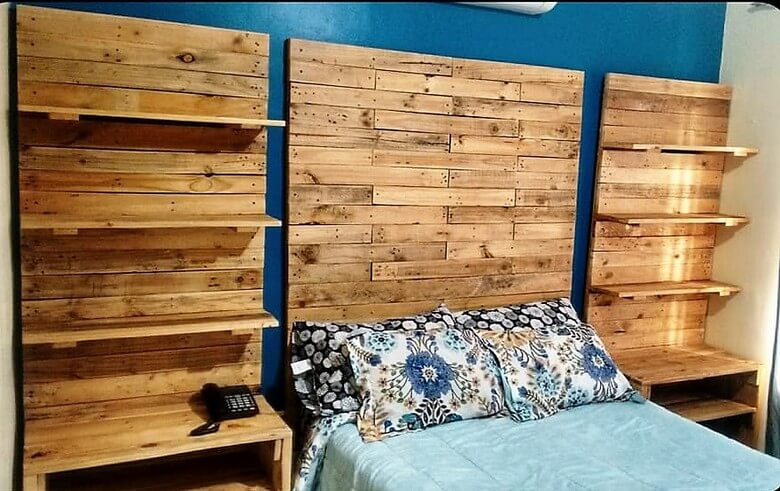 pallet bed headboard art