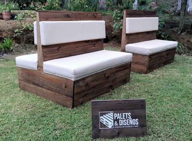pallet double sided furnitre idea