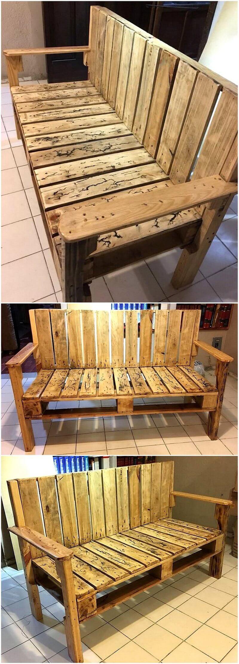 pallet made bench plan