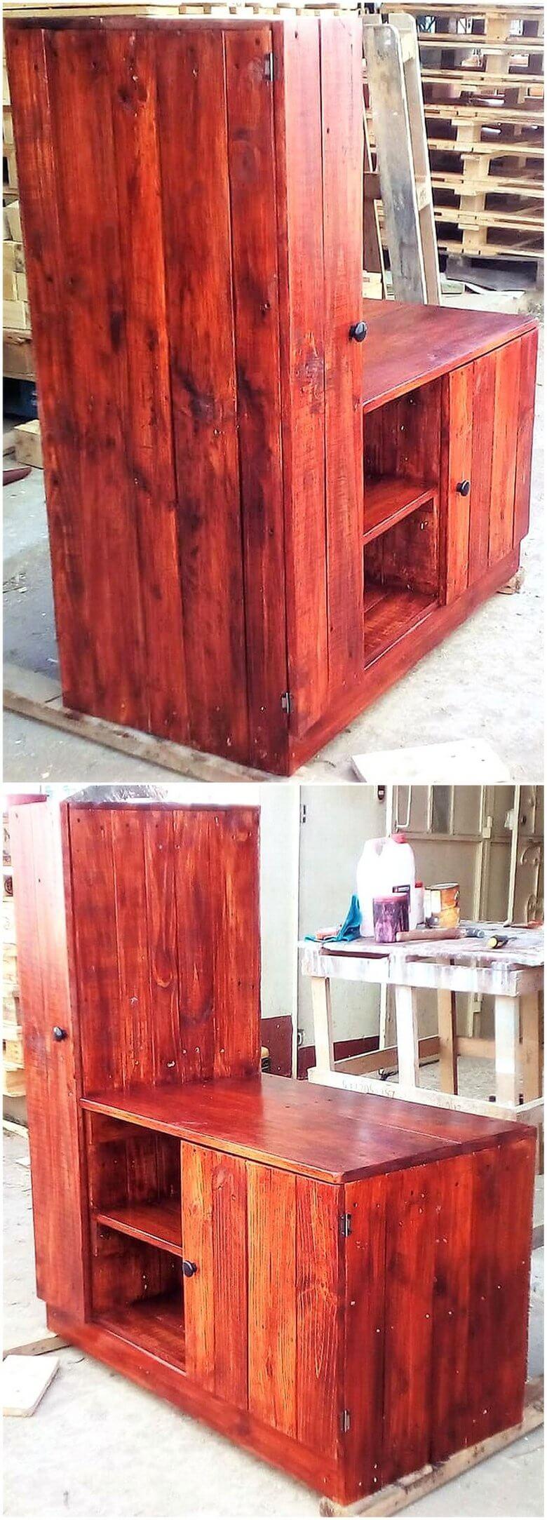 pallet rustic look tv stand