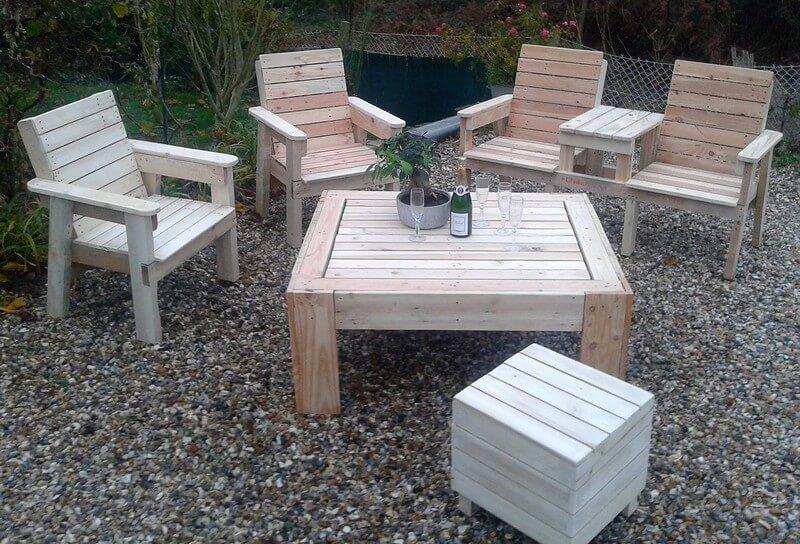 pallet wooden garden lounge