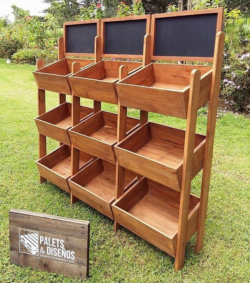pallets fruit storage stands