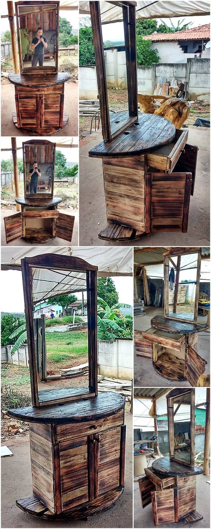 pallets made dressing table
