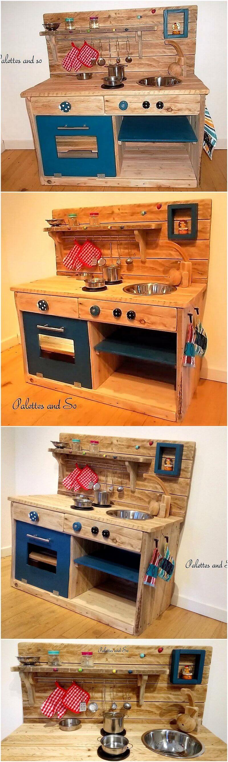 pallets made kids mud kitchen
