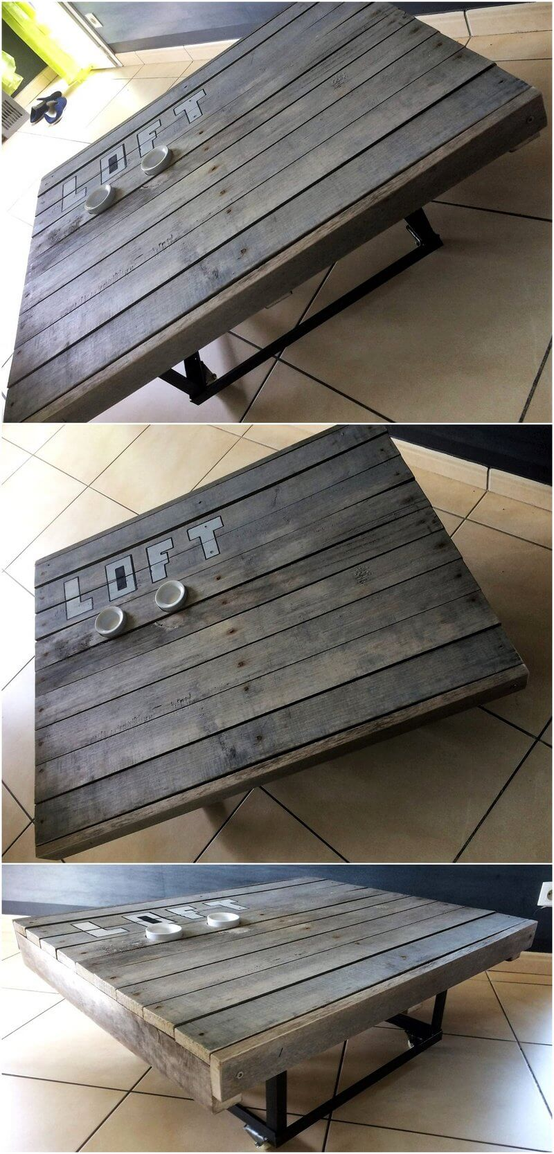 pallets made tables