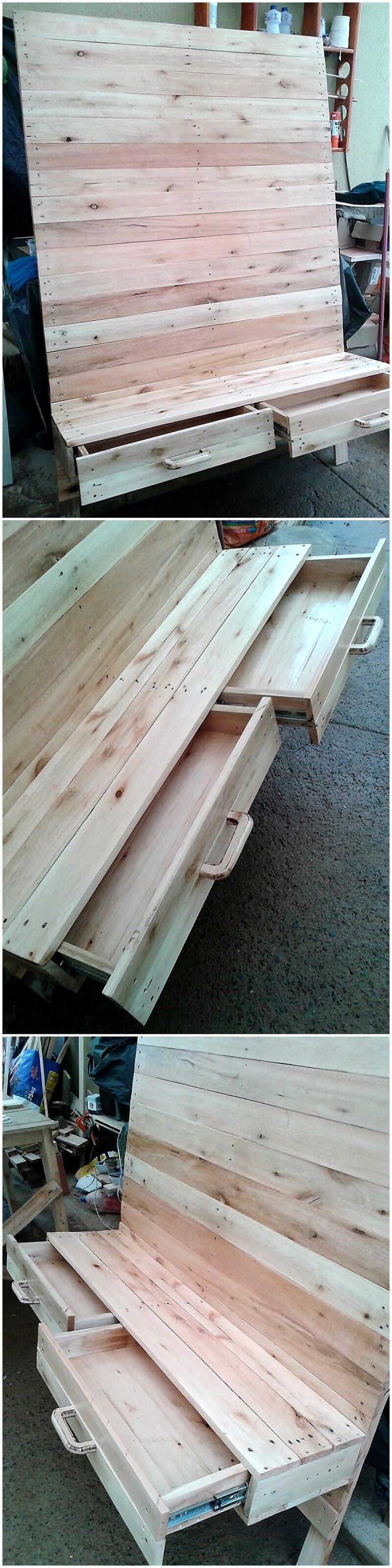 pallets wooden LED Stand idea