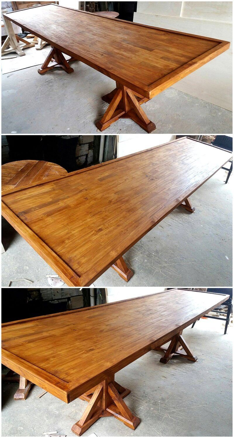 pallets wooden dinner table