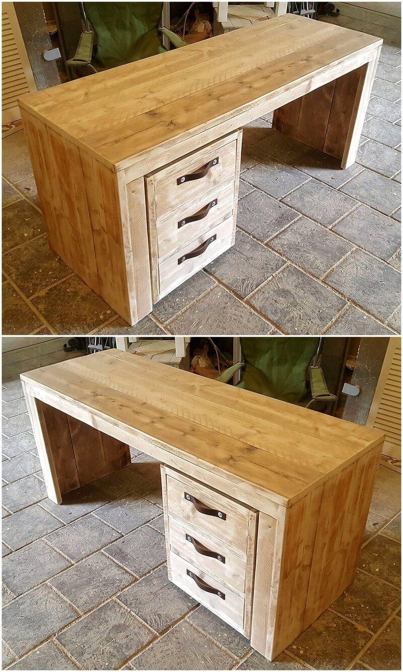 pallets wooden study desk