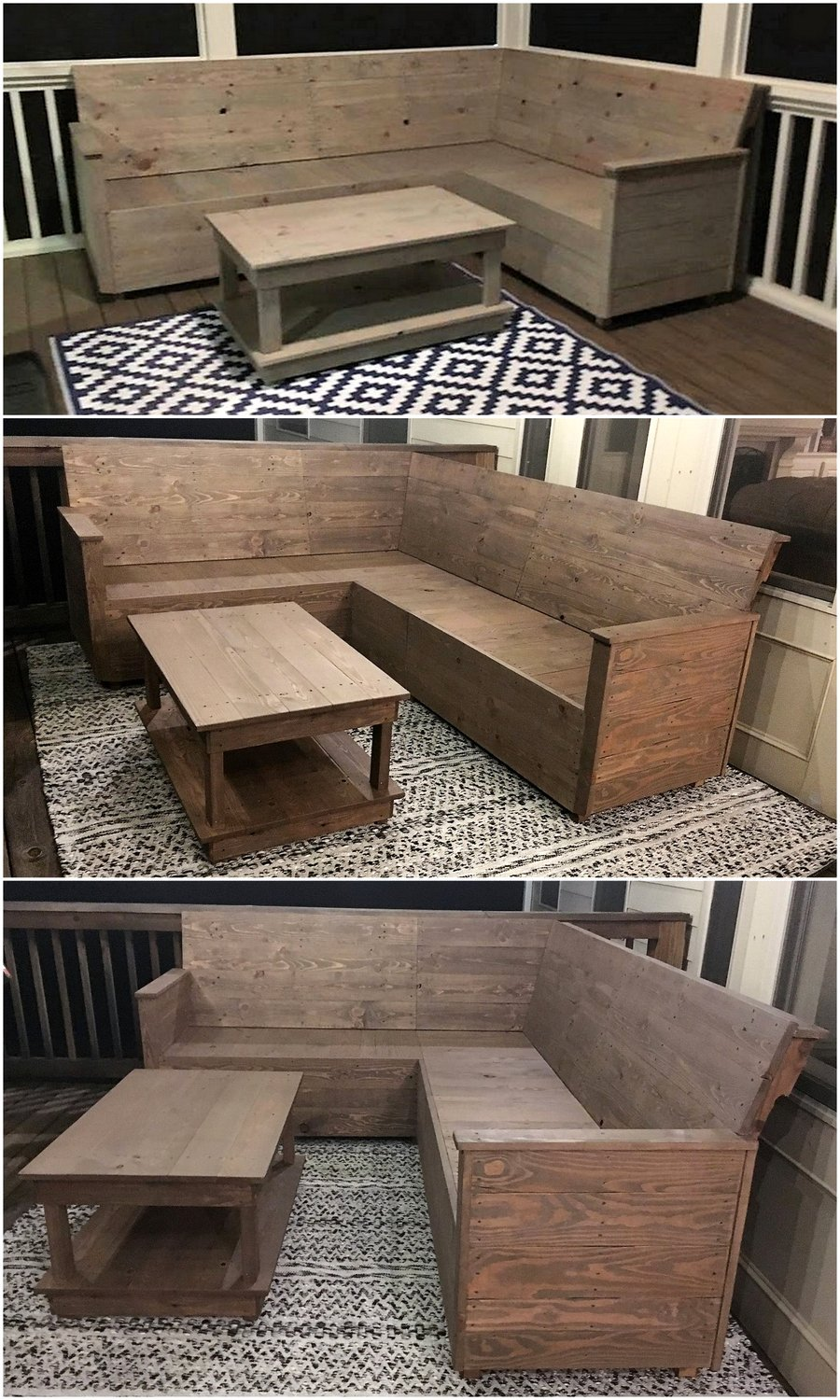 Wood Pallet Made L Shape Sofa Plan Wood Pallet Furniture